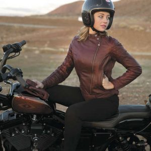 Roland Sands Design Apparel Women's Roland Sands Design Riot Ladies Oxblood Red Leather Jacket Medium 0801-1211-3253